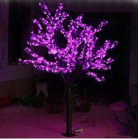 Бесплатная доставка 6.5ft/2 м рост 1,040 шт. светодиоды cherry blossom дерево Рождество светлое дерево розовый открытый
