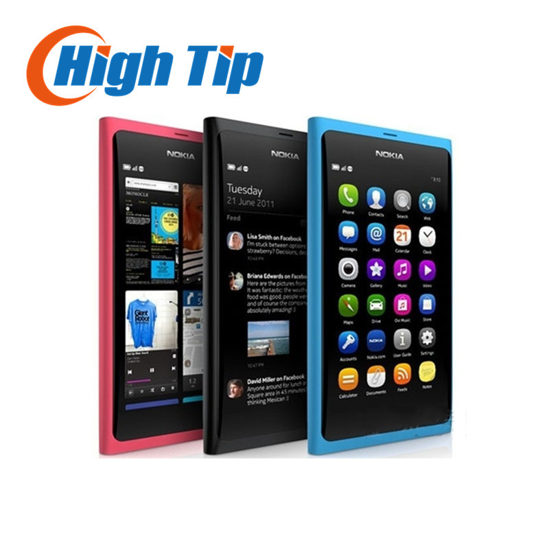 Разблокирована оригинальный Nokia N9 GSM сенсорный экран мобильного телефона 3G WI-FI 8MP камеры мобильного телефона отремонтированы Бесплатная …