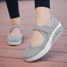 STS 2019 Sommer Mode Frauen Flache Plattform Schuhe Frau Atmungsaktivem Mesh Casual Schuhe Mokassin Zapatos Mujer Damen Boot Schuhe