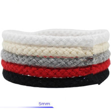 rope cord 5mm*10m eight-strand hollow colored cotton white red black special ash handmade diy clothes drawstring