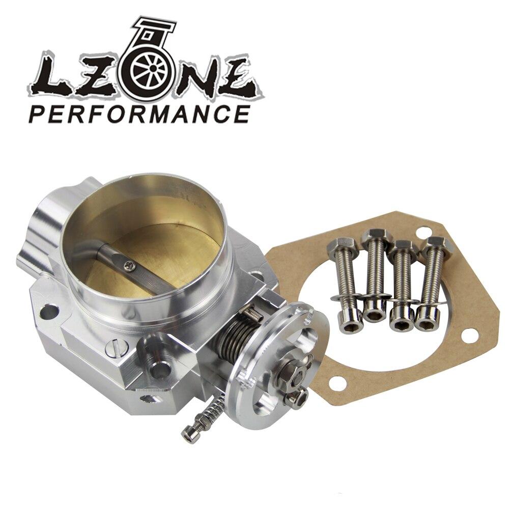 LZONE Aluminum Silver Intake Manifold 70mm Throttle Body For Honda B16 B18 D16 F22 B20 D