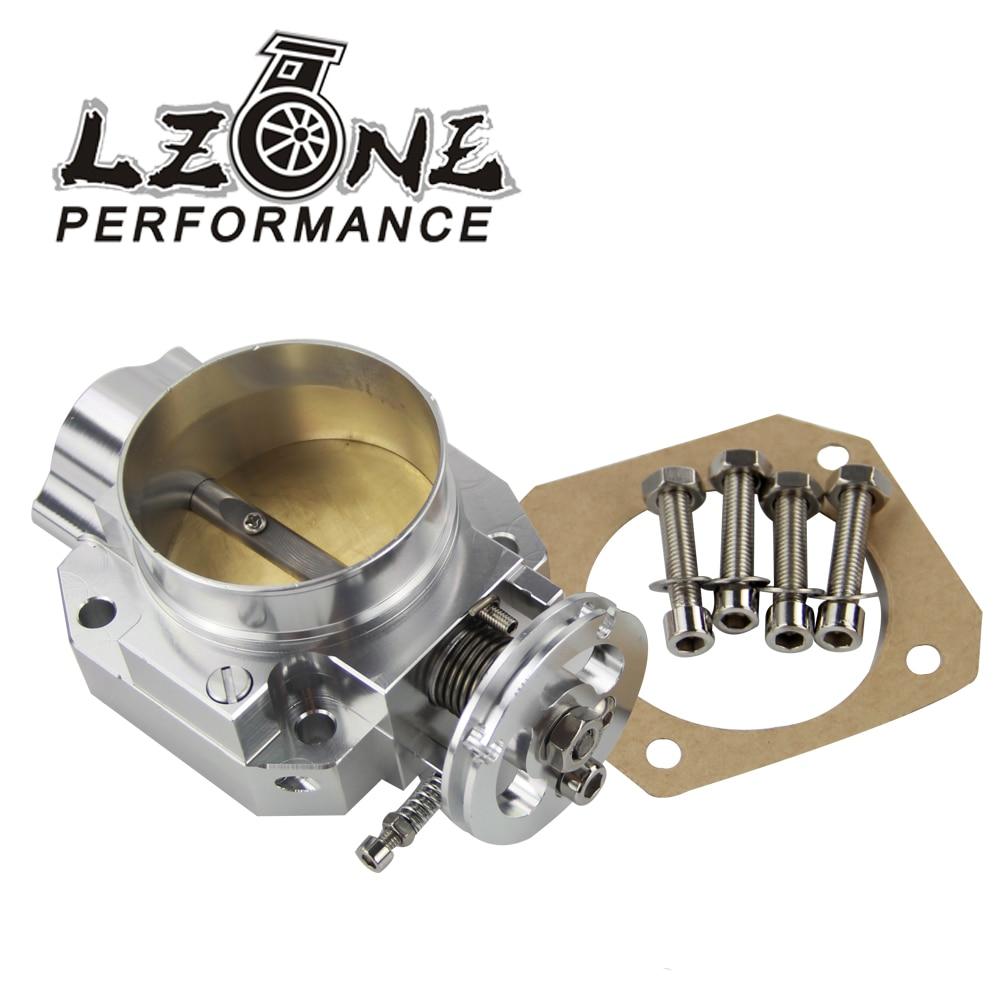 LZONE - Aluminum Silver Intake Manifold 70mm Throttle Body For Honda B16 B18 D16 F22 B20 D/B/H/F EG EK H22  JR6952LZONE - Aluminum Silver Intake Manifold 70mm Throttle Body For Honda B16 B18 D16 F22 B20 D/B/H/F EG EK H22  JR6952