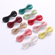 Dejorchicoco 5pcs/lot Handmade Girls Bow Hairpins Fashion Kids Girls Leather Hairclips With Clip For Children Hair accessories 5pcs lot epu asp0903 power management chip