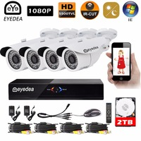 Eyedea 8 CH Motion Detection DVR Recorder HD 1080P 2 0MP 5500TVL Bullet Night Vision Outdoor