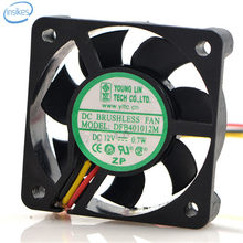 Young Lin DFB401012M Computer Cooling Fan DC 12V 0.7W 4010 40*40*10mm 3 Wires(China)
