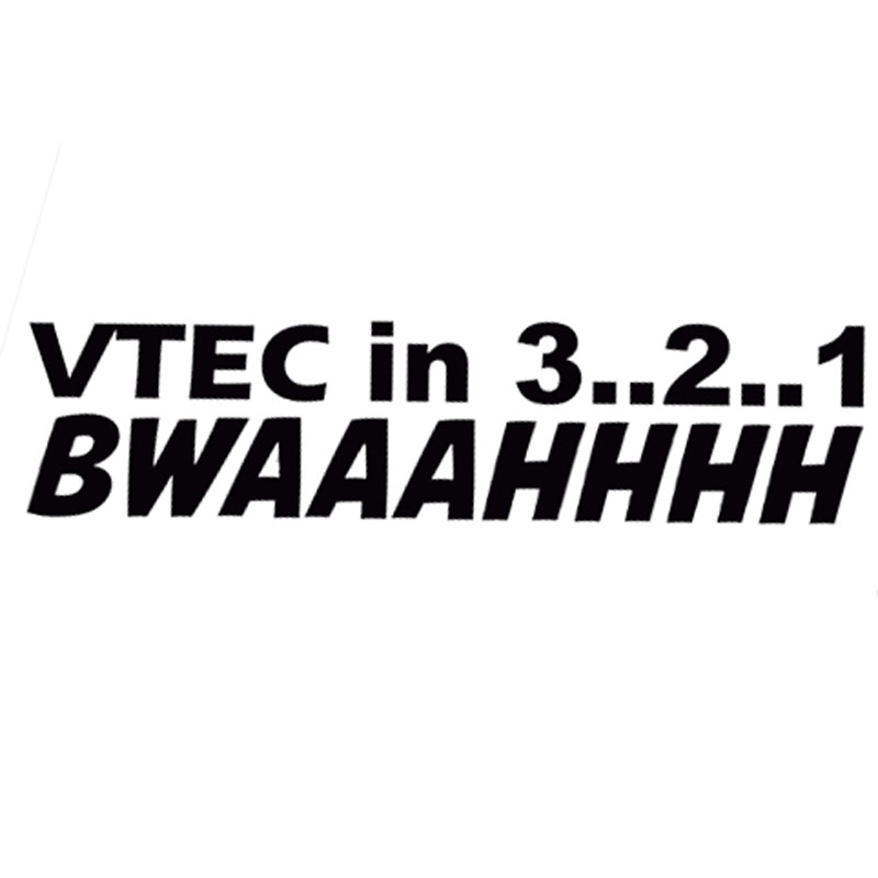 Orderly 14.3*3.5cm Vtec In 3 2 1 Bwaaahhhh Funny Letter Car Styling Decal Fashion Vinyl Car Stickers Black/silver C9-0131 High Quality Goods Exterior Accessories Car Stickers