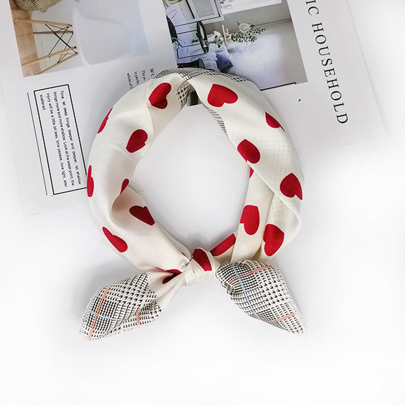 HTB1stUmeRGw3KVjSZFwq6zQ2FXaR - new style Square Scarf Hair Tie Band For Business Party Women Elegant Small Vintage Skinny Retro Head Neck Silk Satin Scarf