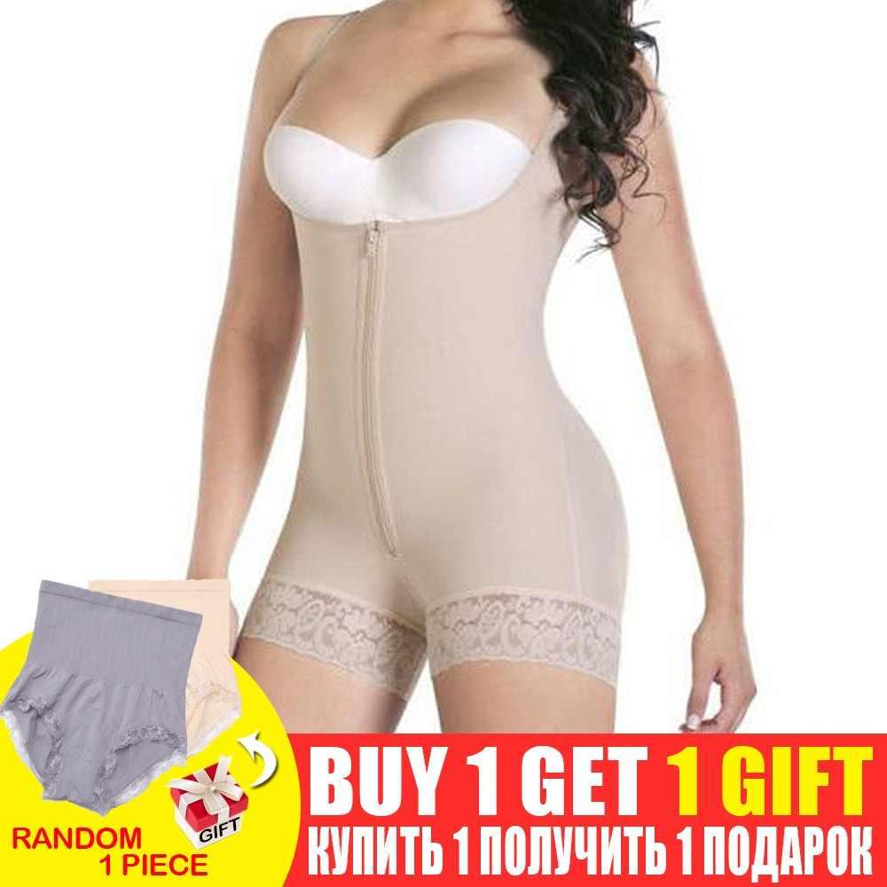 74b1a09b74 Women Full Body Shaper Modeling Belt Adjustable Waist Trainer Butt Lifter  Thigh Reducer Panties Control Push