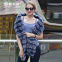 Роскошные натуральным лисьим мехом шарф Для женщин зимние женские Повседневное натуральный мех Обёрточная бумага натуральной модные поло
