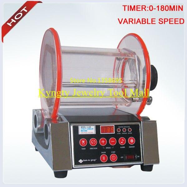 Charge gratuite 500g médias polonais 8 kg Machine de polissage rotative polisseuse rotative bijoux Machine seau Dia 220x210mm