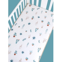 2019 Hot Soft Baby Crib Sheets Newborn Bedding Knitted Cotton Baby Crib Sheets Breathable Baby Bed Mattress Cover Protector