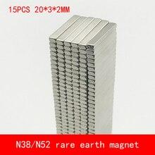 15PCS 20*3*2mm strip strong rare earth neodymium N45 N52 magnet 30x3x2mm