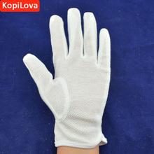 Kopilova Wholesale White Anti Slip Safety Gloves Thin Cotton Etiquette Reception Parade Performances Gloves Working Gloves