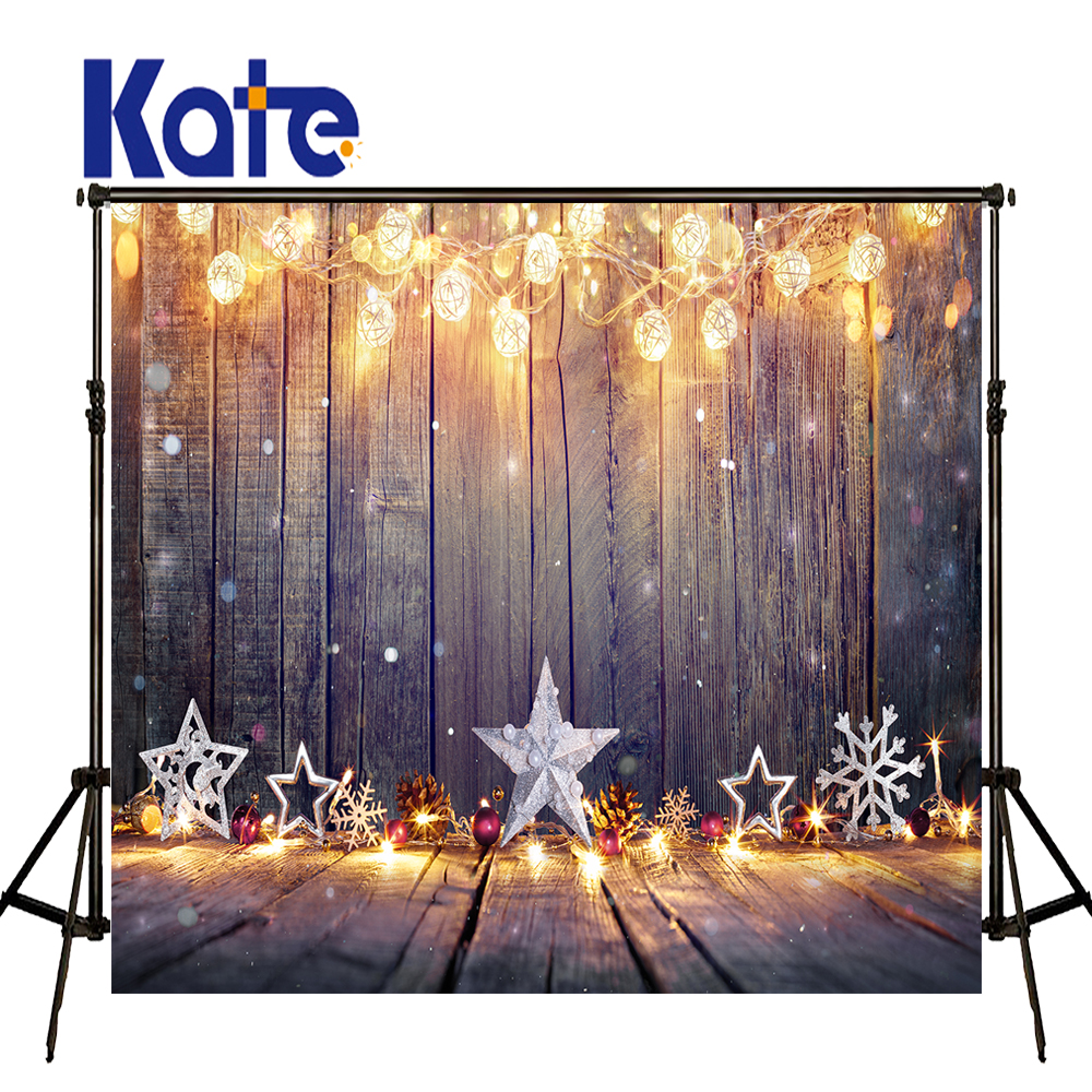 KATE Christmas Background 10x10ft Newborn Backdrop Lights Old Wooden Background Christmas Pine Tree Background Newborn Backdrops