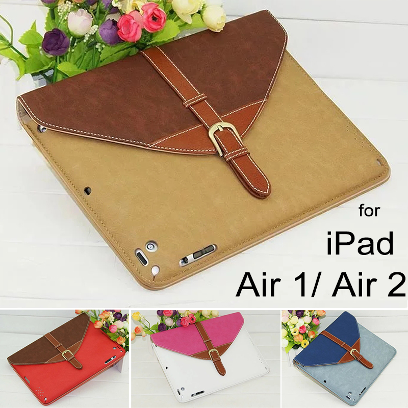 Fashion Luxury Soft Leather Case for iPad Air 2 Case Multi Function Smart Protective Cover for Apple iPad Air 1 5/6 Black Brown