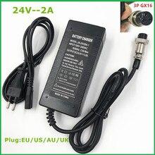 24V 2A blei säure batterie Ladegerät elektrische roller ebike ladegerät rollstuhl ladegerät golf warenkorb ladegerät 3 Prong inline 12MM