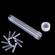 Novo 100pcsx 10ml laboratório plástico congelado tubos de ensaio selo do tubo de ensaio recipiente para a escola de laboratório educacional suppy