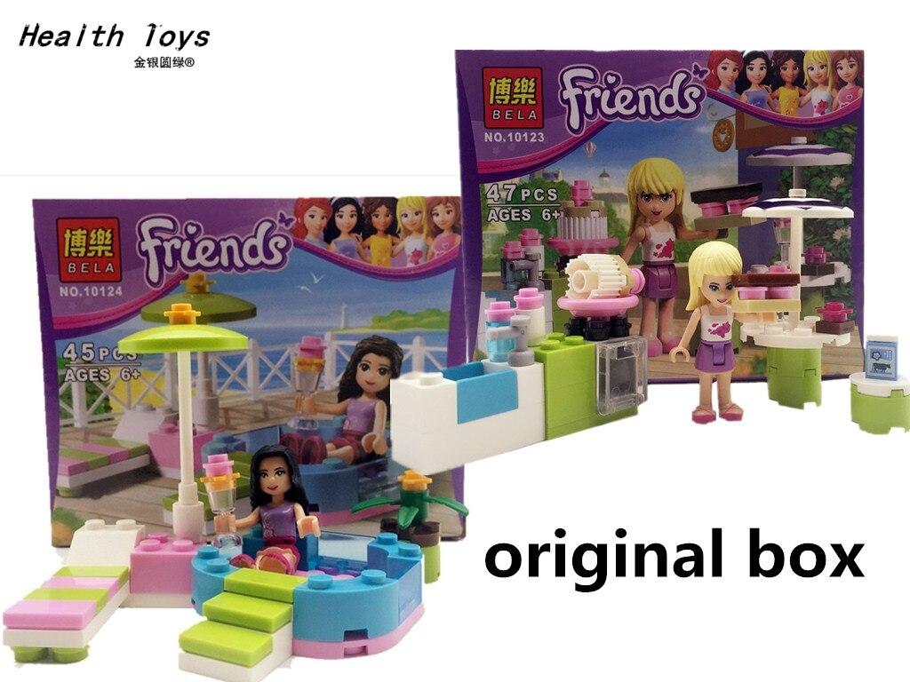 Original box Hot Sale NEW Bela Friends Building Blocks Girls Friends Bricks 10123 /10124 educational toys Compatible with Legoed c012 original blocks educational toys