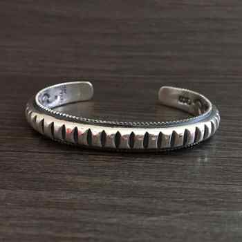 39.5g Solid Silver 925 Mens Bracelet Thick Band Gear Cuff Bangle Brief Design Real Sterling Silver 925 Mens Jewelry Top Quality - DISCOUNT ITEM  10% OFF All Category