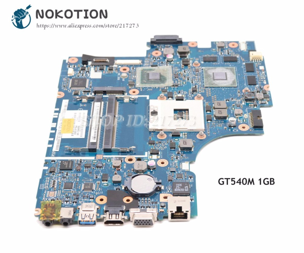 NOKOTION For Acer aspire 5830 5830TG Laptop Motherboard HM65 DDR3 MBRHJ02001 LA-7221P Main board GT540M 1GB nokotion la 7221p mbrhj02001 mb rhj02 001 main board for acer aspire 5830 5830t laptop motherboard hm65 ddr3 geforce gt540m gpu
