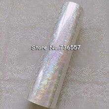 Голографическая фольга Прозрачная Фольга Y04 горячего тиснения для бумаги или пластика 16 см x 120 м разбитое стекло