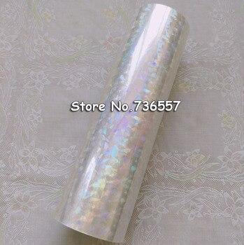 Folha holográfica transparente Y04 da folha de carimbo quente para o papel ou plástico 16 centímetros x 120 m de Vidro Quebrado
