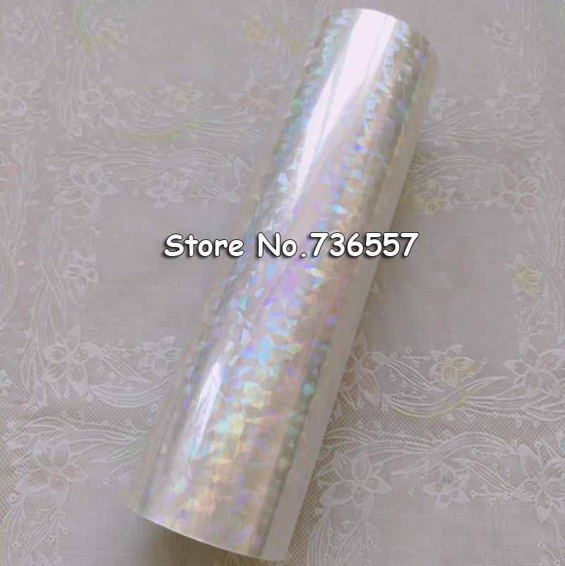 Holographic foil transparent foil Y04 hot stamping for paper or plastic 16cm x120m Shattered Glass shattered symmetry