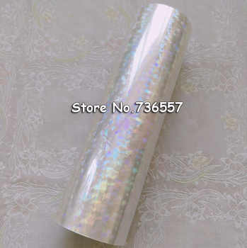Holographic foil transparent foil Y04 hot stamping for paper or plastic 16cm x120m Shattered Glass - DISCOUNT ITEM  40% OFF All Category