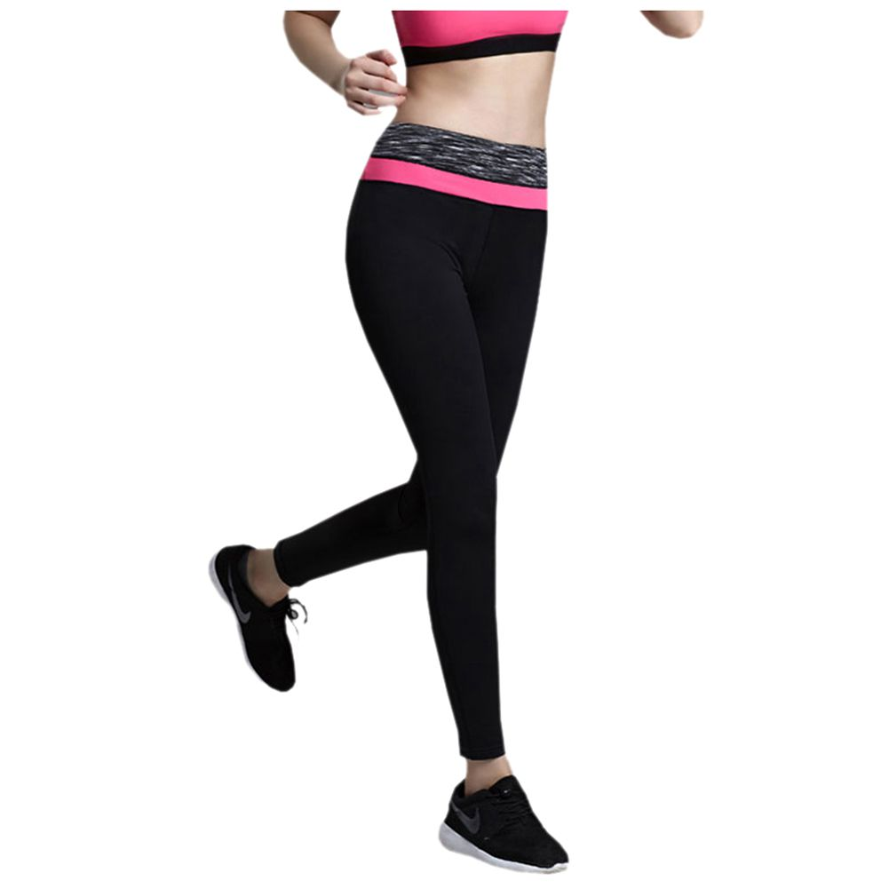 SOUTEAM Yoga Pants For Women Comfortable Highly Flexible Fitness Legging For Gym L pink ...