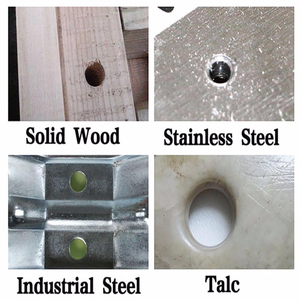 "Купить с кэшбэком 3Pcs HSS Titanium Drill Bit Set, 4-12/4-20/4-32mm , 1/4"" Hex Shaft Drive Quick Change Multiple Industrial DIY Woodworking tools"