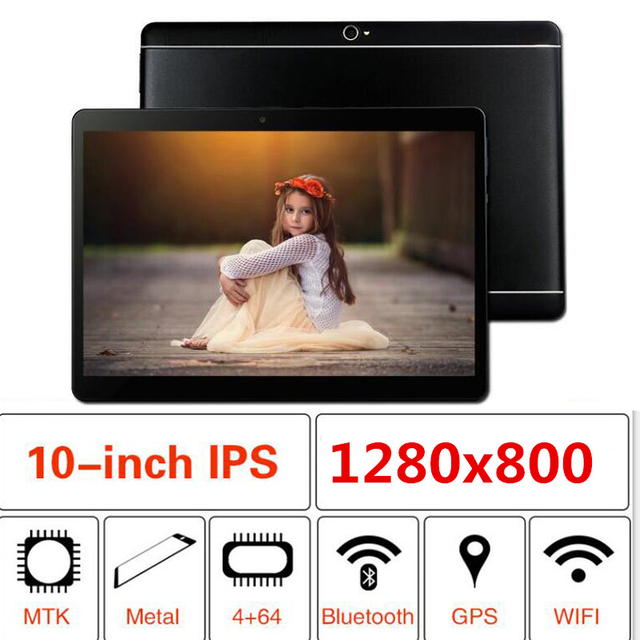 2019 newest Google Play Android 8.0 10.1 inch tablet Octa Core 6GB RAM 128GB ROM 1280X800 IPS 2.5D Glass Kids Tablets 10 10.1