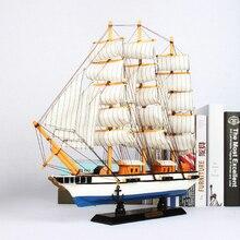 Средиземноморский стиль деревянные модели парусника предметы мебели креативная лодка морской домашний декор подарки ремесла