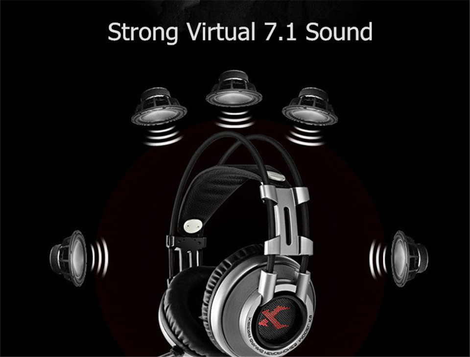 XIBERIA K9 Virtual 7.1 Sound Gaming Headset casque Best PC Gamer USB Stereo Bass Headphones with Microphone for Cumputer Game (4)