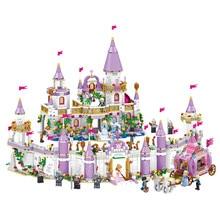 731 pièces Gril amis princesse Windsor château cendrillon princesse Royal calèche modèle blocs de construction Kit jouets cadeau