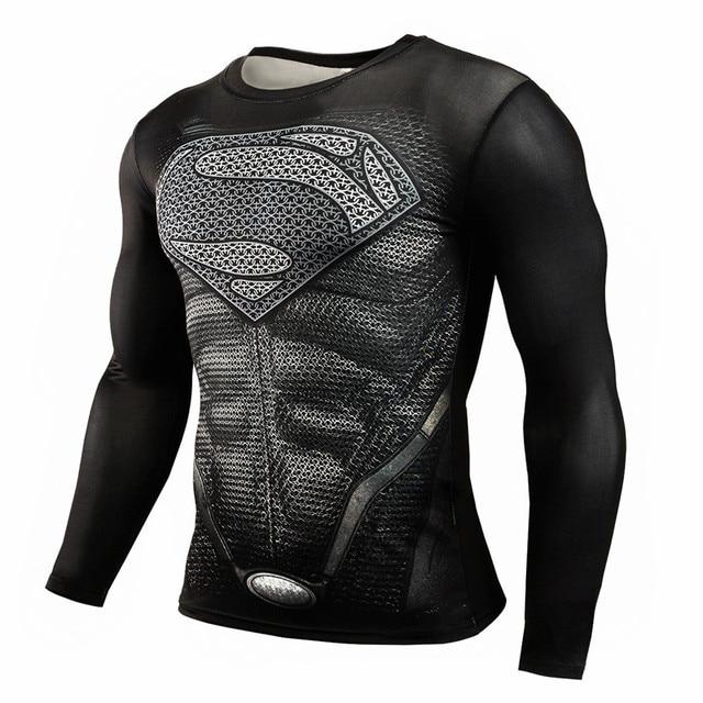 De 3d 2017 Crossfit Hombres Camiseta Compresión Lycra T Camisa zxxgwqvU
