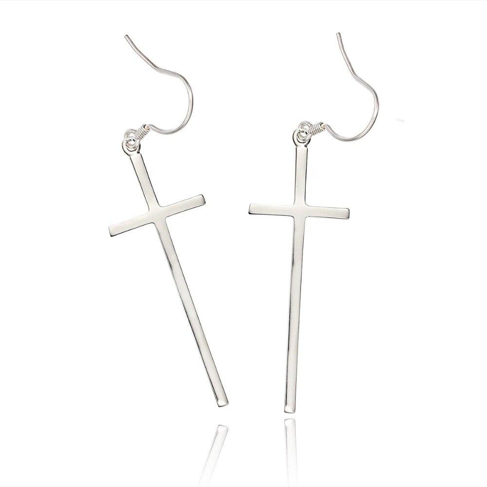 Aliexpress Solid 925 Sterling Silver Long Cross Drop