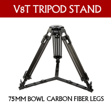 TERIS TX-1675T video digicam carbon fiber skilled tripod legs(75mm Bowl) For TILTA Rig Crimson Scarlet Epic FS700