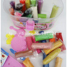 1 Set 30 Color Play Dough Playdough Polymer Clay Plasticine Mold Tools Set Kit Styling Tools