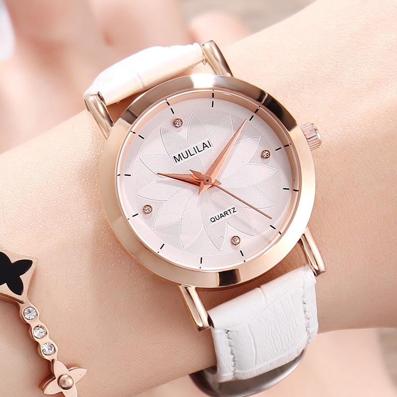 MULILAI Marca Moda Casual Relojes de Las Mujeres de Lujo patrón de - Relojes para mujeres