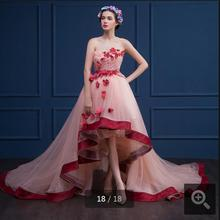Mrs win Gorgeous 2019 pink pleated flower prom dresses