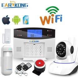 Обновление Wifi PSTN GSM домашняя охранная сигнализация Поддержка беспроводной и проводной детектор сигнализация умный дом устройство реле вых...