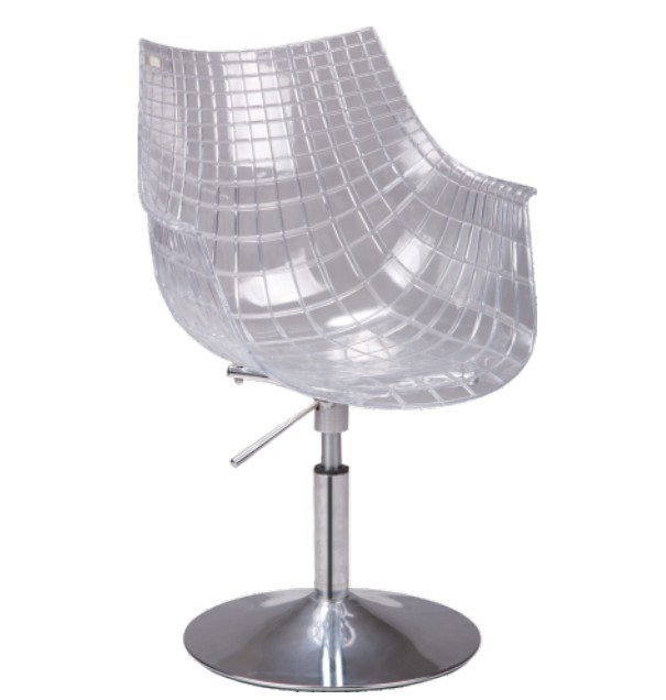 Modern Design Plastic Transparent Swivel Office Computer Chair Clear  Plastic Shell Office Chair Swivel Gas Lift Study Chair 1PC In Office Chairs  From ...