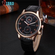 Men Watch OTOKY Willby Mens Black Dial Wrist Watch Faux Leather Quartz Watches 161227 Drop Shipping