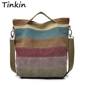 ff8ccf696fab Tinkin/Повседневная Женская Холщовая Сумка на плечо, простая женская сумка,  мягкая сумка среднего размера для подростков