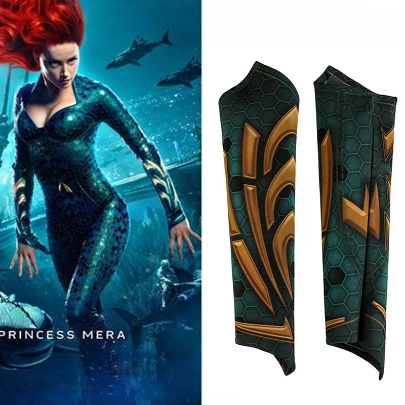 Aquaman Mera Cosplay Wide Cuffs Bracers Prop Aquaman Cosplay Costume Adult Women Wristband Halloween Christmas Accessories