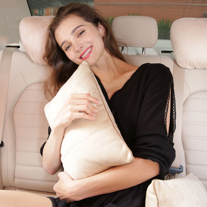 Поясничная Подушка для спины автомобиля, биологическое бархатное сиденье, поясничная массажная подушка, дышащая сетка, автомобильное сиде