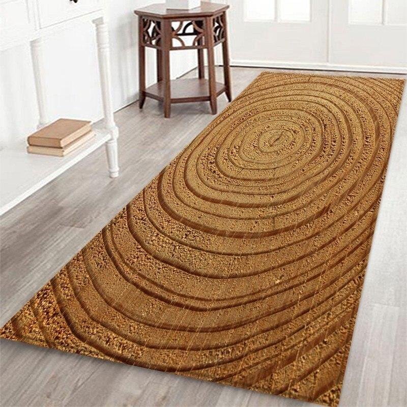 Floor Mat Wood Texture Front Door