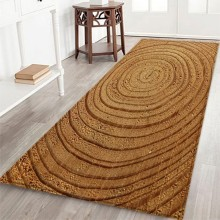 Growth Ring Entrance Mat Flannel Floor Wood Texture Front Door Mats Outdoor Water Absorption Non-Slip Room Carpet