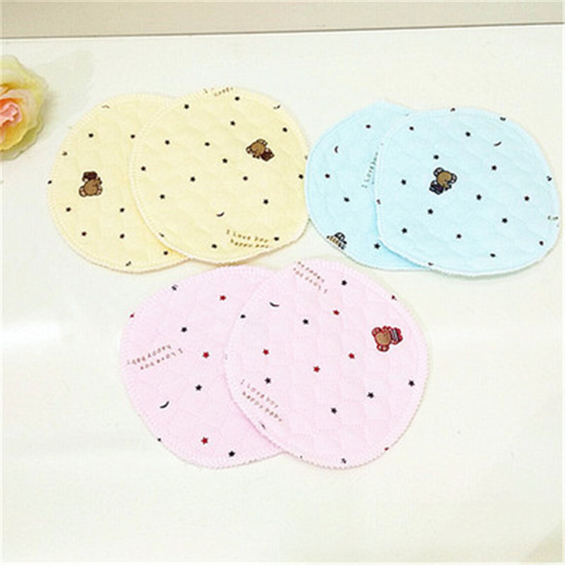 10Pcs Reusable Breast Pad Nursing Pads For Mum Washable Soft Absorbent Baby Breastfeeding Waterproof Pregnant Cotton Pads 13cm