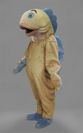 Mascotte bleu aileron poisson mascotte Costume personnalisé fantaisie costume anime cosplay kit mascotte thème fantaisie robe carnaval costume